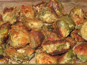 how to make fried artichokes